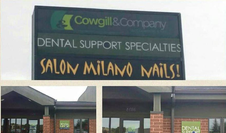 Dental Support Specialites sign