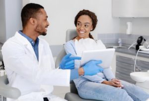 patient during a hygiene appointment